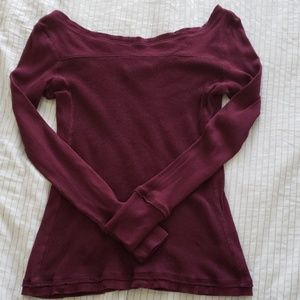 Anthro Saturday Sunday Femme Thermal Top